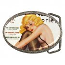 SILK STOCKING STORIES 1938 Sexy Nude NEW Belt Buckle WOW!