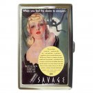 SAVAGE LIPSTICK Bad Girl 1930's Cigarette Money Case ID Holder or Wallet! HOT!