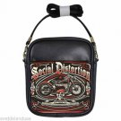 SOCIAL DISTORTION MOTORCYCLE Leather Sling Bag Small Purse