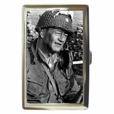 JOHN WAYNE THE LONGEST DAY Cigarette Money Case ID Holder or Wallet! WOW!