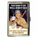 WORLD WAR 2 POSTER BEST FED SOLDIER Cigarette Money Case ID Holder or Wallet!
