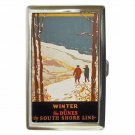INDIANA DUNES WINTER SOUTH SHORE LINE Cigarette Money Case ID Holder or Wallet!