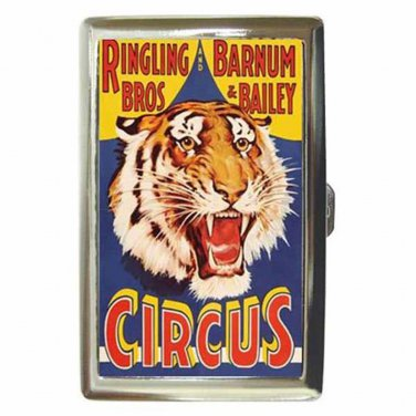 RINGLING BROS BARNUM & BAILEY CIRCUS TIGER 2 Cigarette Money Case ID Holder
