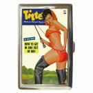 TITTER MAGAZINE FISHING PIN-UP SEXY! Cigarette Money Case ID Holder or Wallet!