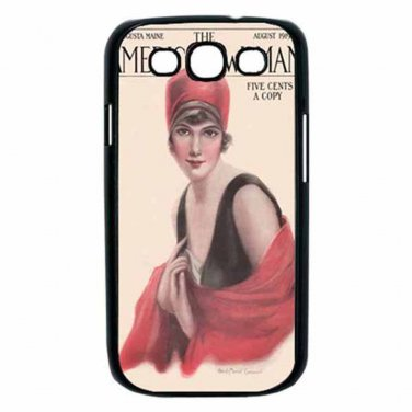 AMERICAN WOMAN 1919 AUGUSTA MAINE Samsung Galaxy S III Case (Black)