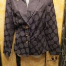 HOT! Cynthia Rowley Black And Charcoal STeampunk Looking Military Style Jacket S