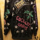 GAUDY Bonnie Boerer Black Velvet Top COVERED w  Crystals & Sequins  Hollywood M