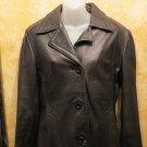 Danier Canada Exquisite Black Button Down Leather Blazer Jacket  Size XS