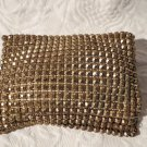 Very OLD Chic Whiting & Davis Gold Metal Beaded Cosmetic Change Purse Bag
