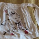 Super Kitch Unique Vintage Christmas Apron Signed Can't read it!