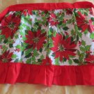 Gorgeoue NEW Vintage Apron Bright Red Pointsiettas by Prints Charming