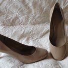SUper SHARP BCBG Generation Beige Patent Leather Pumps  Shoes Size 10b