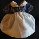 Fabulous Very Important Blue and White Vintage Doll Dress
