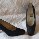 Stunning Nina Black Peau De Soie Heels Shoes Size 10