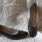 "Johnston & Murphy Dark Grey Shoes Size 10 AA 2"" Heel All Leather"