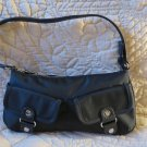 Banana Republic Black Purse 100% Nylon Cow Leather Trim
