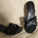 Fabulous Banana Republic Black Sandals Braided Leather STuds Shoes Size 6