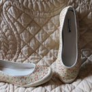 Super Cute American Eagle Ballet Flats Floral Waterproof Shoes Size 10