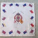 026 HUGE 1936 Cornation Scarf Queen Elizabeth Vintage Handkerchief Hankie