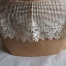 012 Vintage Handmade Filet Lace  Collar Huge and Amazing