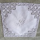Gorgeous Vintage Wedding Hankie Monogrammed with Initials H ? T? I Do not Know