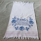 Charming Vintage Hand Embroidered Mother Towel Perfect for Mother's Day