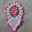 1 0f 4 Truly Gorgeous 3 Dimensional Rose HandMade Crocheted Rose Doily 001