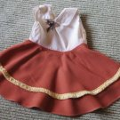 The Cutest Little Vintage Doll Dress Full Rust Skirt Trimmed Collar Top