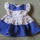 The Most Darling Vintage Blue Doll dress W Shamrocks totally Adorable Clothing