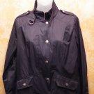 Very Chic Chico's Black Zipper & Snap Down  Jacket  Windbreaker  Size 0