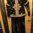 Stunning Vintage Heavily Embellished Gold Bullion EMbroidery Top & Long Skirt S