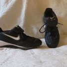 Men's Nike Air Black and White Football Spikes Cleats Shoes Size 9.5