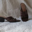 Cute Clark's Brown Leather Sandals Size 9M