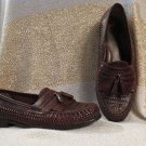 Men's Brown Leather Nunn Bush Loafers Shoes Size 10