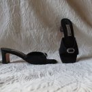 Elegant Gorgeous Brighton Made in France Mules Heels Shoes Size 7