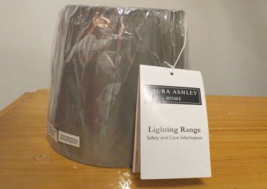 Laura Ashley SBC306 Charlotte 6.25-Inch Barrel Clip Shade Sage Silk Chandelier