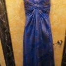 Stunning Cobalt Blue & Gold  Aidan Mattox Evening Gown SEE DESCRIPTION For SIZE