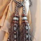 AMAZING Huge From Grand Estate Drapery Tassels Multiple Available Blue & Brown