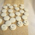 Huge Lot of 26 LARGE White Wooden  Knobs For Drawers Cabinets Doors