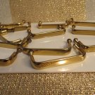 Huge Lot of 12 High Polished Shiney Gold Metal Drawer Cabinet Door  Pulls