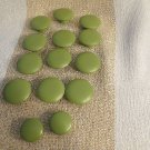 Huge Lot 14 Of Green PAinted Wooden Drawer Pull Door  Knobs