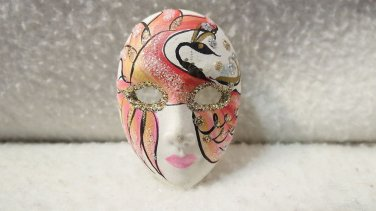 Vintage Pin Mask Brooch