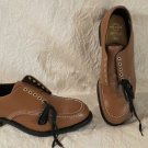 NEW Hy-Test Brown Leather Oxford Style Safety Shoes USA Z41 Size 10.5E