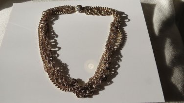 Magnificent MultiStrand Gold tone Necklace Quite Amazing