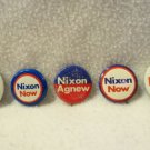Lot of 5 Genuine Richard M. Nixon Campaign Buttons Pin REpublican President