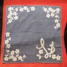 So Cool Dark Hankie With L Monogram True Vintage Handkerchief Hankie
