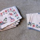 Set of 8 Charming Unique Southern Belles with Parasoles 4 Placemats & 4 Napkins