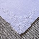 Exquisite Hand Appliqued Vintage Other Handkerchief Hankie