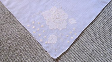 Beautiful Applique Work  Handkerchief Hankie