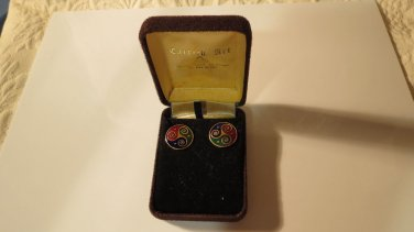 NEW in Box Vintage Celtic Sea Gems Earrings Straight From Ireland Great Gift